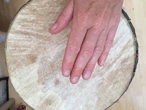 Therapy. Drum hand